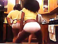 Some Naughty Black Webcam Girls Were Twerking Their Asses In Pan