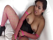 Sweet Pussy Of Beautiful Black Lady Urgently Needs Dildo Inside