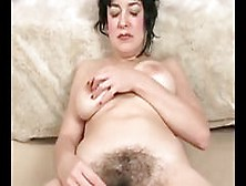 Milf Diddles Her Big Hairy Meaty Muff