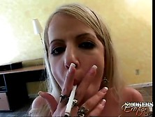 Big Dick Sucked And Stroked By Smoking Girl