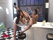 Slim Ebony Girls Getting Very Naughty