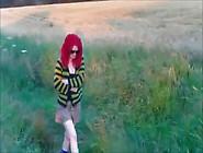 Amateur Uk Daisy Mini Skirt No Panties Flashing Her Pussy