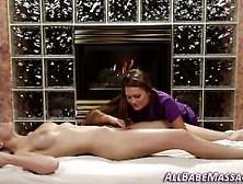 Lesbian Babe Gets Massge