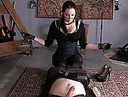 Kinky Woman Likes To Play With Her Slave's Dick Until She H