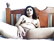 Chubby Indian Gal Poking Her Twat With Big Sex Toy