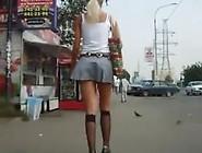 Hawt Cheerleader Upskirt Twat Tease Movie