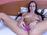 Pink Toy Inserted In Her Vagina