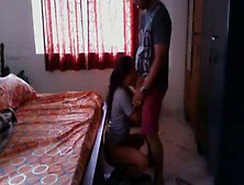 Desi Hostel Girl Giving Quick Blowjob To Her Mate