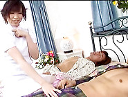 Hairy Asian Bitch In Stockings Likes Blowbangs And Creamy Facial