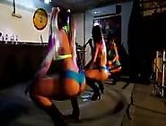 Brazilian Dance Team Showing Off Their Big Asses.
