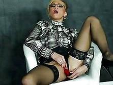 Masturbating Milf In Blouse And Highheels