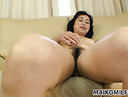 Japanese Mommy Junko Morikawa Looks So Happy After Vibrator Play