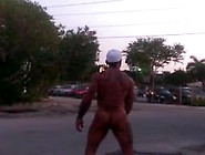 Walking Naked On The Street In The Morning