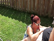 Getting Dick Sucked In Backyard And Covering Wife In Cum Summer