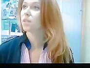 Russian Girl Masturbating At Work On Webcam