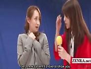 Subtitled Enf Japanese Lesbian Dildo Guessing Game