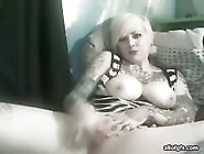Big Tits Tatooed Babe Showing Her Pussy On Webcam