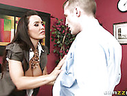 Big Boobed Brunette Mom Lisa Ann Blows Sweet Penis Of Her Boy In
