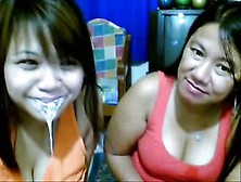 Asian Mum And Not Her Young Girl Filthy Face Show