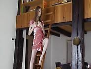 Superskinny Teenie Opening Her Snatch