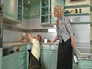 Cougar Housewife Regi Seduces Young Plumber And Sucks His Cock