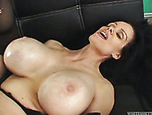 Brunette Milf With Ridiculous Silicon Juggs Gets Hammered Doggys