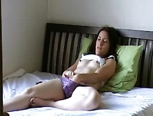 Wife Masturbates In Front Of Hubby