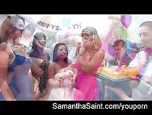Samantha Saint Birthday Orgy