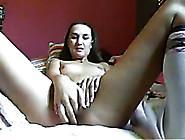 Slender Amateur White Teen Skank Masturbates In Her Bed