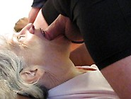 Tounge Blowjob And Open Mouth Cumshot By My Cum Eating Granny Fr