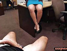 Milf With Big Boobs Pawns Her Pussy To Bail Out Her Hubby