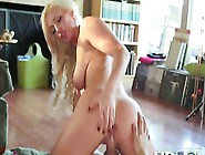 Magnificent Blonde Gives Dude A Blowjob And Rides His Phallus