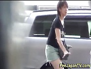 Asian Lady Pees Herself