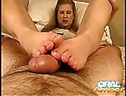 Oral Amber - Footjob Fun