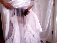 Guy Dressed As The Bride Pleasuring Involving The Big Sex Toy