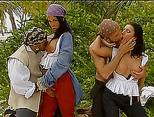 Sexy Pirates Nikky Rider And Simonne Style Have Foursome Sex On