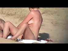 Beach Couple - She Pees!