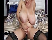 Bbw With Monster Tits Masturbates Herself
