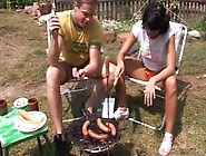 Girl Male Hardcore Anal Pummeled At Bbq Party