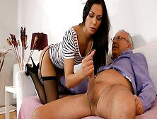 Exotic Brunette Beauty Cypriana Gets Doggyfucked Before Blowjob