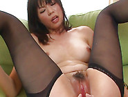 Lovely Chick Saki Aoyama In Sexy Lingerie Is Riding On His Cock