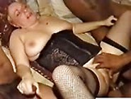 White Pussy Surrounded By Black Dicks