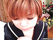 Spoiled Red-Haired Japanese Slut Marina Gives A Zealous Mouth Fu