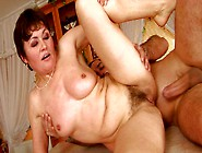 Spoiled Mature Slut Gives Blowjob And Gets Fucked In Sideways Po