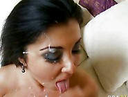 Jaylene Rio Gets Her Tits Sprayed With Hot Cum