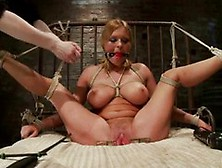 Perverted Blond Babe Learns More About Bdsm From Her Good Lookin