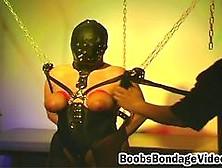 Latex Masked Babe Tortured Big Boobies Bondage