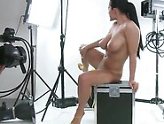Carmen Croft A Big-Titted Black Haired Masturbating For A Cam