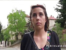 Czech Student With Huge Tits Outdoor In Public