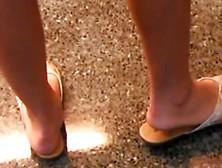 Nice Teen Legs Feet In Flip Flops